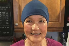 Lly-in-blue-chemo-cap